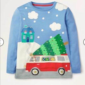 NWT mini boden Christmas Scene T-Shirt